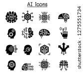 ai  artificial intelligence... | Shutterstock .eps vector #1275551734