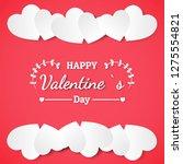 banner valentine day design for ...   Shutterstock .eps vector #1275554821