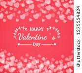 banner valentine day design for ...   Shutterstock .eps vector #1275554824
