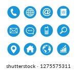 web icon set symbol vector | Shutterstock .eps vector #1275575311