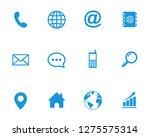 web icon set symbol vector | Shutterstock .eps vector #1275575314