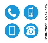 telephone icons set symbol... | Shutterstock .eps vector #1275576547