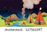 illustration of an overnight... | Shutterstock . vector #127561097