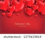 valentine's day background with ... | Shutterstock .eps vector #1275615814
