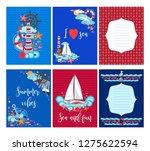 summer greeting cards marine... | Shutterstock .eps vector #1275622594