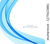 elegant vector blue wave...   Shutterstock .eps vector #1275623881