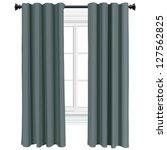 green curtains | Shutterstock .eps vector #127562825