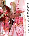 indian bride and groom during... | Shutterstock . vector #1275633097