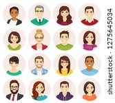 smiling people avatar set... | Shutterstock .eps vector #1275645034
