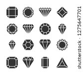 diamonds icons isolated on... | Shutterstock .eps vector #1275647701