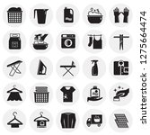 laundry icons set on circles... | Shutterstock .eps vector #1275664474