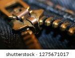 zipper lock on jeans so close ... | Shutterstock . vector #1275671017