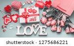 festive composition of love for ... | Shutterstock . vector #1275686221