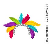 carnival feather headband ... | Shutterstock .eps vector #1275694174