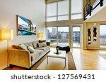 modern loft apartment living...   Shutterstock . vector #127569431