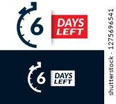 6 days left sign | Shutterstock .eps vector #1275696541