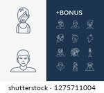 human icon set and boy with emo ...