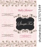 new baby announcement card | Shutterstock .eps vector #127571549