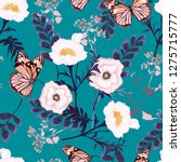 floral seamless pattern... | Shutterstock .eps vector #1275715777