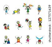 illustration of kids children ... | Shutterstock .eps vector #127571639