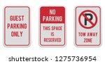 Set Of Vertical Parking Signs....