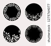 a set of four round frames with ... | Shutterstock .eps vector #1275764077