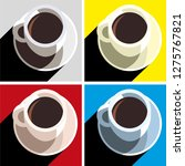 coffee cup vector icon | Shutterstock .eps vector #1275767821