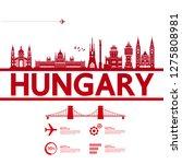 hungary travel destination...   Shutterstock .eps vector #1275808981