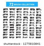 72 brush collection set grunge... | Shutterstock .eps vector #1275810841