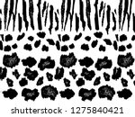 mixed animal print  zebra ... | Shutterstock . vector #1275840421