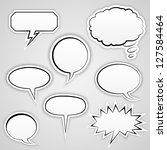 speech bubbles collection  ... | Shutterstock .eps vector #127584464