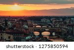 panoramic view of florence at... | Shutterstock . vector #1275850594