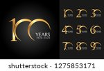 set of anniversary badges.... | Shutterstock .eps vector #1275853171