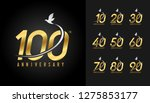set of anniversary logotype.... | Shutterstock .eps vector #1275853177