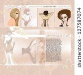 vintage wedding web template... | Shutterstock .eps vector #127587074