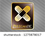 golden emblem with crossed... | Shutterstock .eps vector #1275878017
