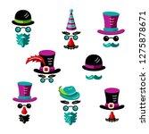 set of men images with hats ... | Shutterstock .eps vector #1275878671