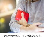 close up hand s female holding... | Shutterstock . vector #1275879721