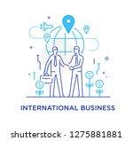 businessmen shake hands with... | Shutterstock .eps vector #1275881881