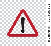 hazard warning attention vector ... | Shutterstock .eps vector #1275883621