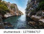 a secret cove in lycian way... | Shutterstock . vector #1275886717