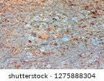 weathered concrete with stones  ... | Shutterstock . vector #1275888304