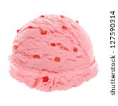 Strawberry Ice Cream Scoop With ...