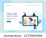 web page template of online... | Shutterstock .eps vector #1275905404