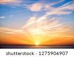 Beautiful Sunrise In Orange...