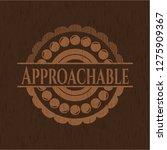 approachable wooden emblem.... | Shutterstock .eps vector #1275909367
