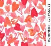 seamless pattern full of red... | Shutterstock . vector #1275922711