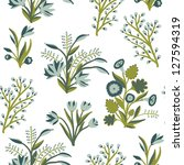 floral seamless pattern | Shutterstock .eps vector #127594319