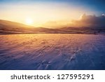 Photo Of A Sunset At Winter...