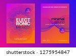 club flyer. curvy discotheque... | Shutterstock .eps vector #1275954847